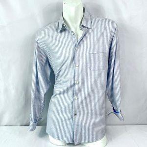 Ben Sherman | Men's Button Up Striped Blue 16.5